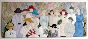Full view of The Ladies art quilt.