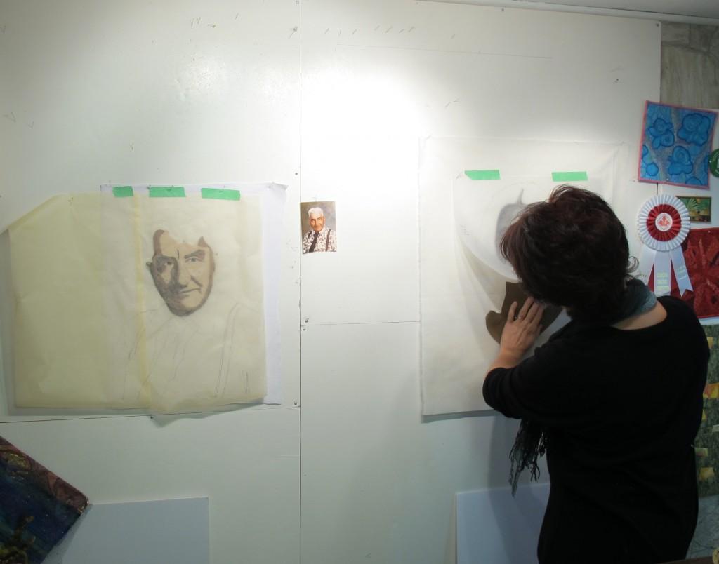 Helen at work