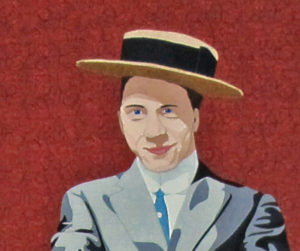 Sample of a fabric portrait. Relevant to the text.