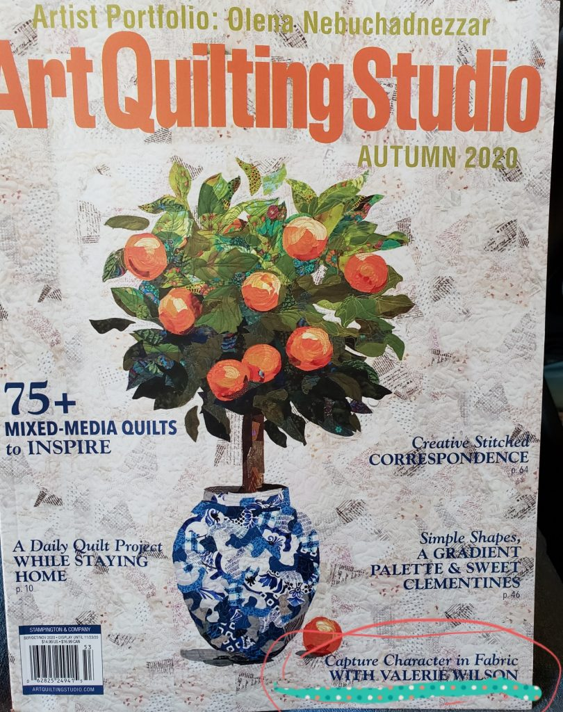 Cover of the Fall issue of Art Quilting Magazine
